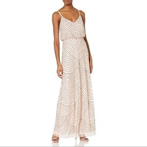 Adrianna Papell Fully Beaded Blouson Gown